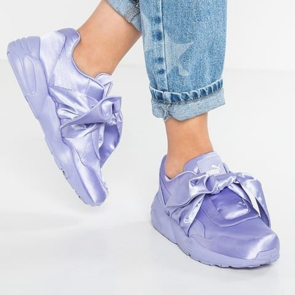 89dbeab9117 NEW Puma Rihanna FENTY Satin Bow sneakers 8.5